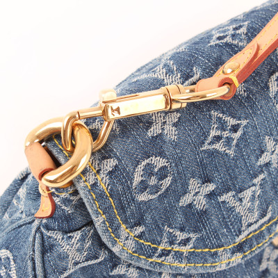 Pleaty Denim Monogram