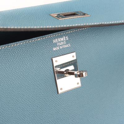 Hermès Kelly 35 Celeste