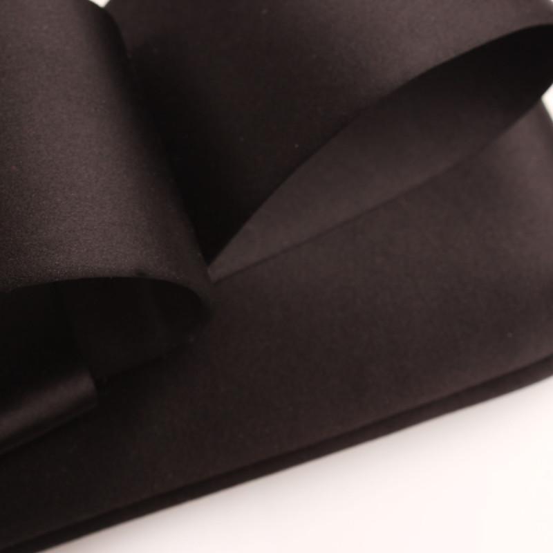 Valentino Black Satin Loop Bow Clutch