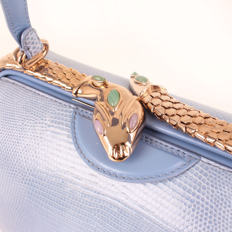 Bulgari Serpenti Hypnotic Chalcenody Blue Lizard