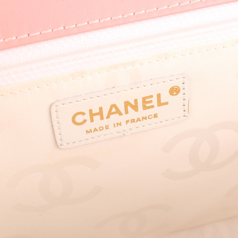 Chanel Pink Wild Stitch Top Handle Flap