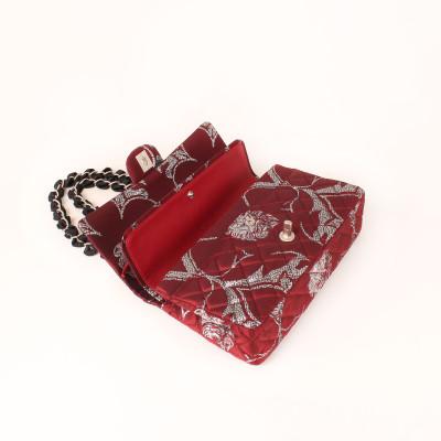 Chanel Brocade Double Flap Bag