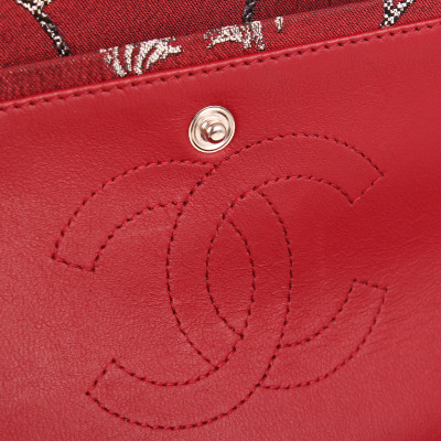 Chanel Brocade Double Flap Bag