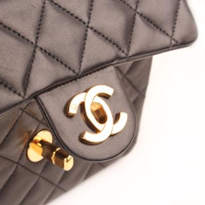 Bolso Mini Classic Flap Negro