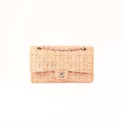 Classic Double Flap Pink Tweed