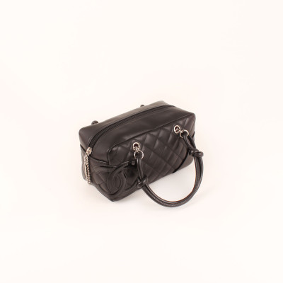 Black Quilted Cambon Mini Tote Bag