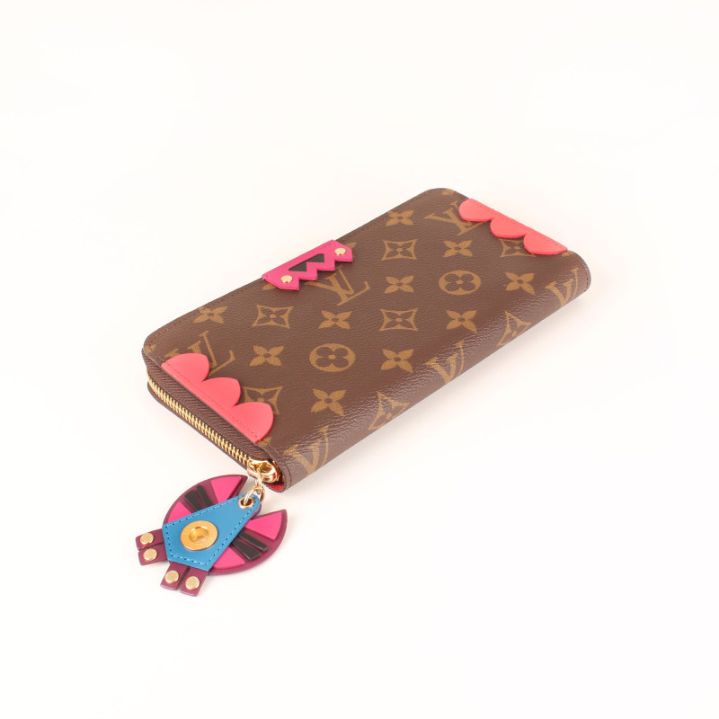 Cartera Monogram Canvas Flamingo Zippy Totem