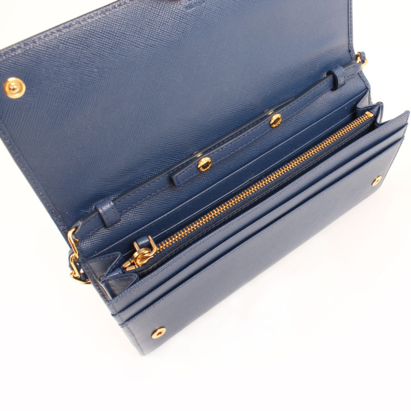 Saffiano Metal Bluette