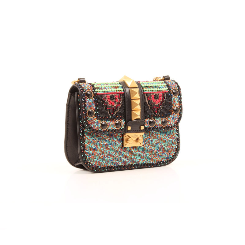 Beaded African Lock Flap Medium
