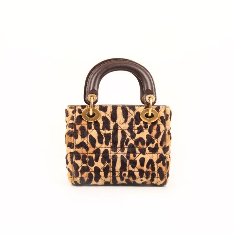 Dior Lady Dior Mini Bag Animal Print Cbl Bags